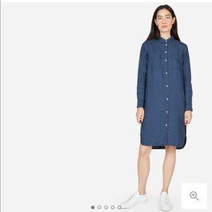 Everlane linen shirt dress STRIPED